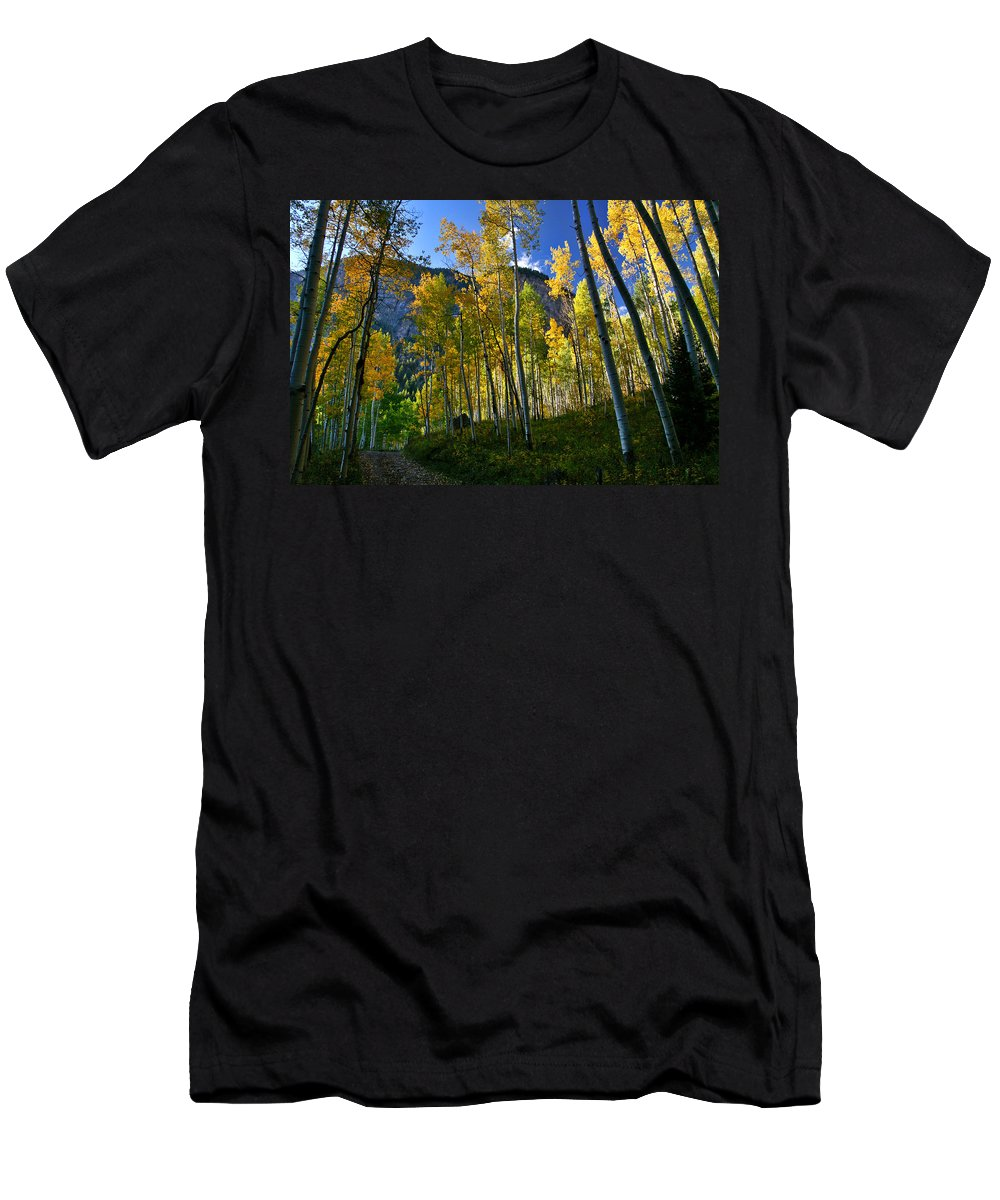 Fall Colors Men's T-Shirt (Athletic Fit) featuring the photograph Crystal Loop by Jeremy Rhoades