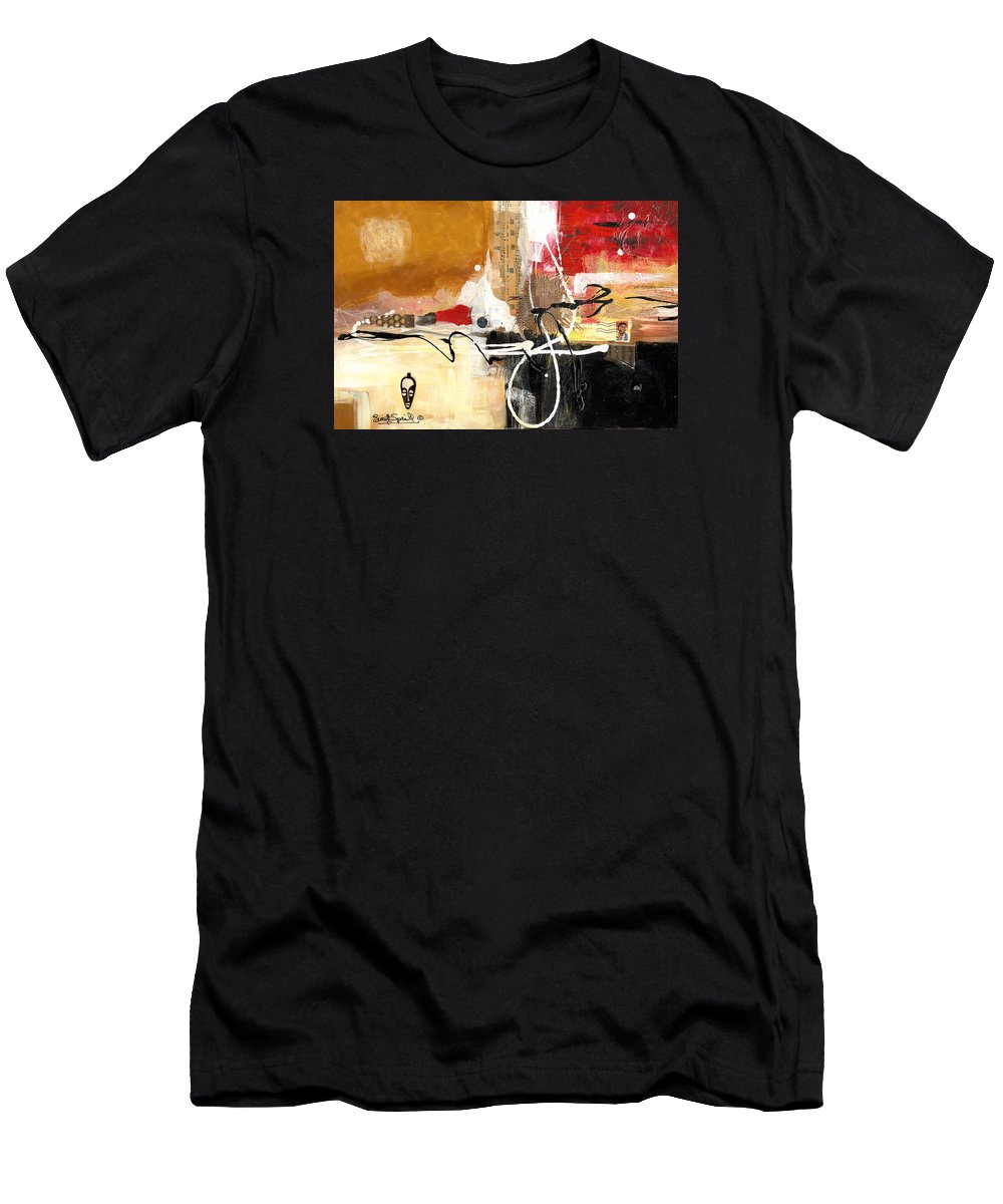 Everett Spruill T-Shirt featuring the painting Cultural Abstractions - Hattie McDaniels by Everett Spruill