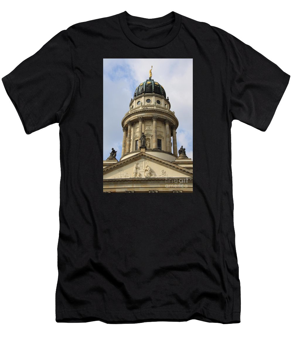 Cupola Men's T-Shirt (Athletic Fit) featuring the photograph Cupola French Dome - Berlin by Christiane Schulze Art And Photography