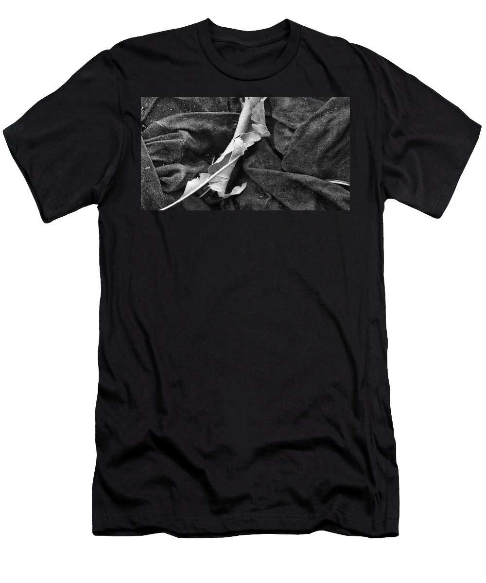 Leaf Men's T-Shirt (Athletic Fit) featuring the photograph Curled Up For The Winter by David Pantuso