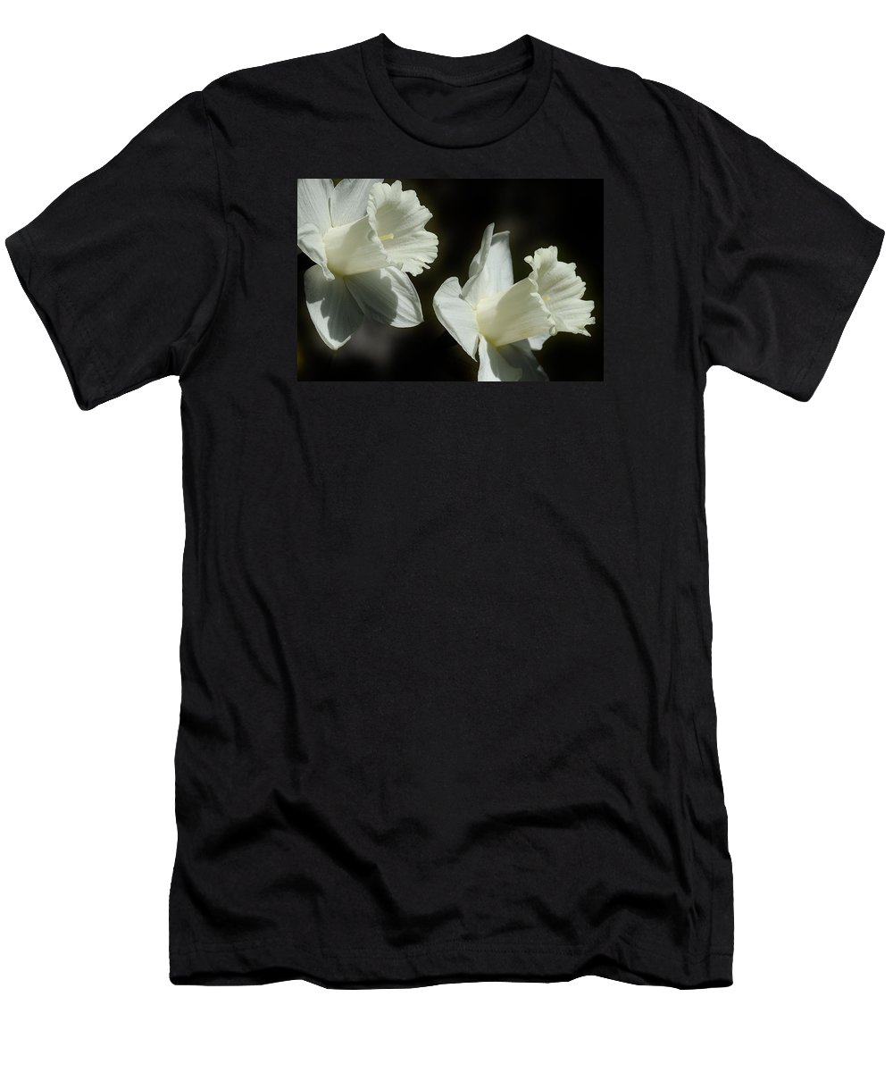 Daffodil Men's T-Shirt (Athletic Fit) featuring the photograph Daffodils by FL collection