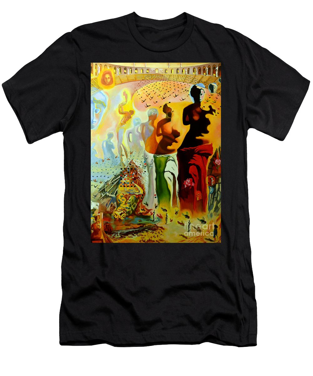 4a906337e62 Salvador Dali Men s T-Shirt (Athletic Fit) featuring the painting Dali Oil  Painting