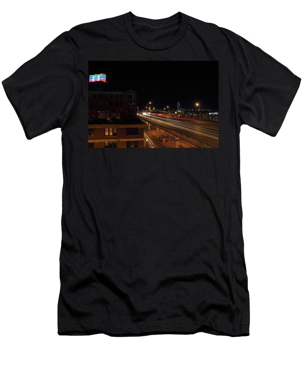 Dallas Texas Men's T-Shirt (Athletic Fit) featuring the photograph Dallas West End by Jonathan Davison