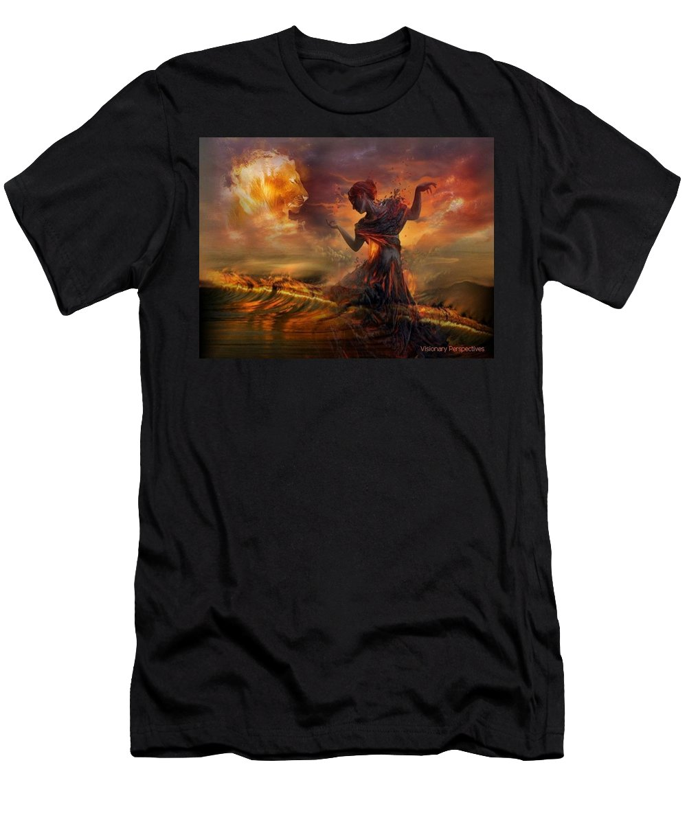 Dance Men's T-Shirt (Athletic Fit) featuring the digital art Dance In The Fire by Jewell McChesney