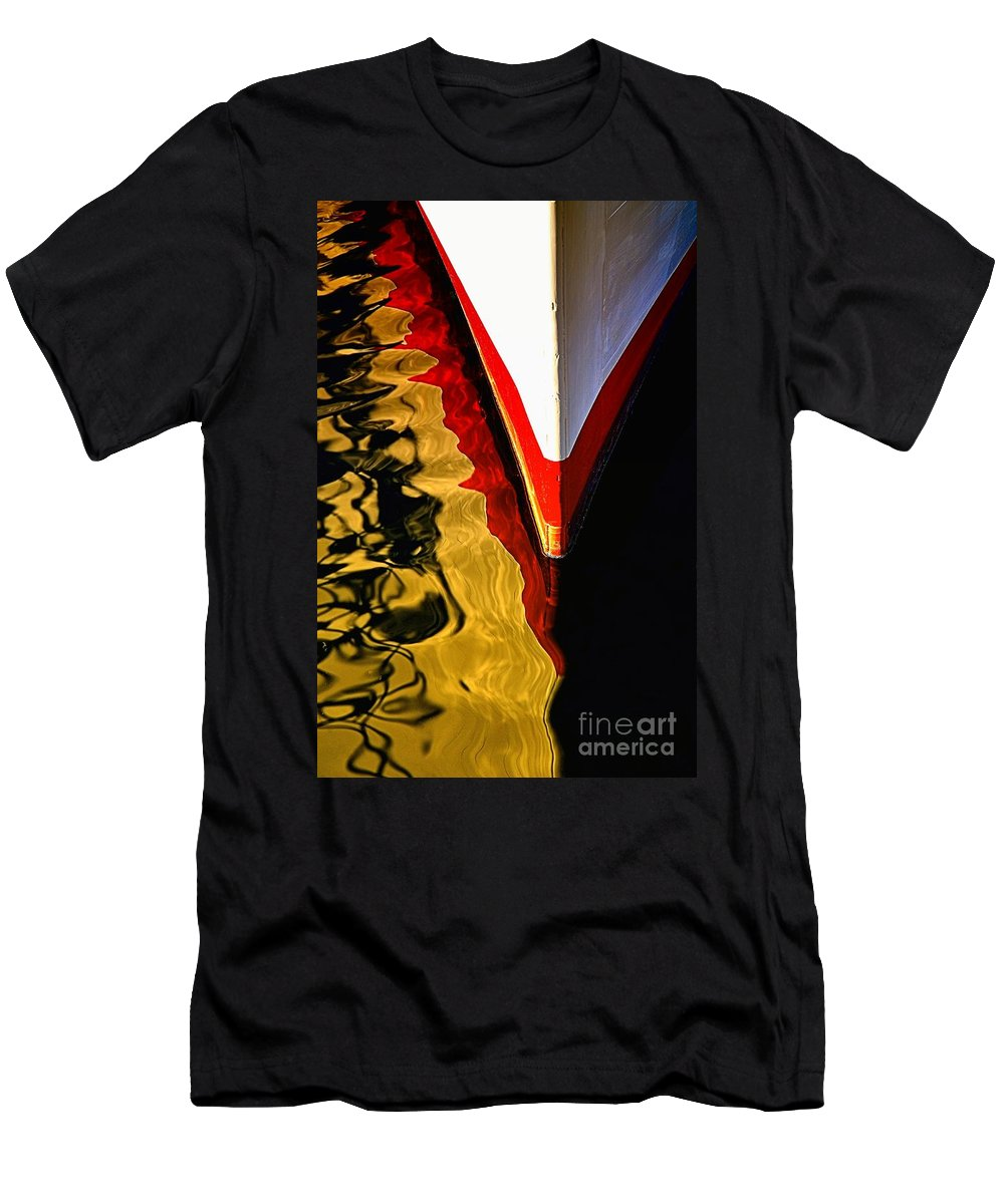 Abstract Men's T-Shirt (Athletic Fit) featuring the photograph Dance Upon The Bow by Lauren Leigh Hunter Fine Art Photography