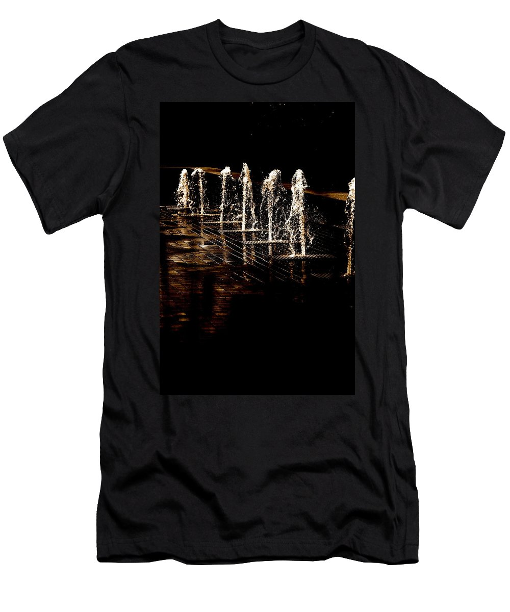Water Men's T-Shirt (Athletic Fit) featuring the photograph Dancing Waters by Debbie Nobile