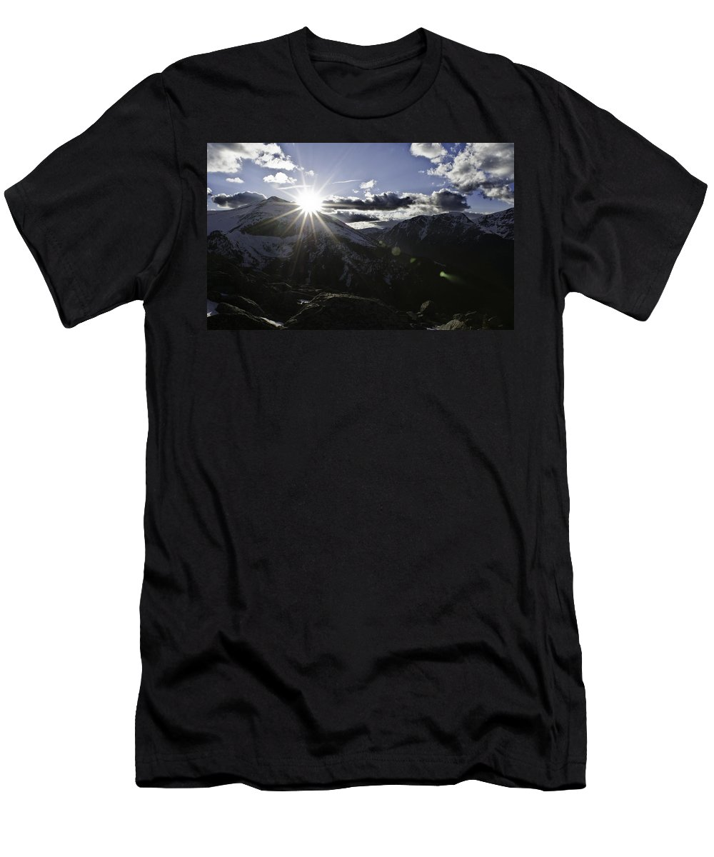 Dancing Men's T-Shirt (Athletic Fit) featuring the photograph Dancing With Sundance by Colin Collins