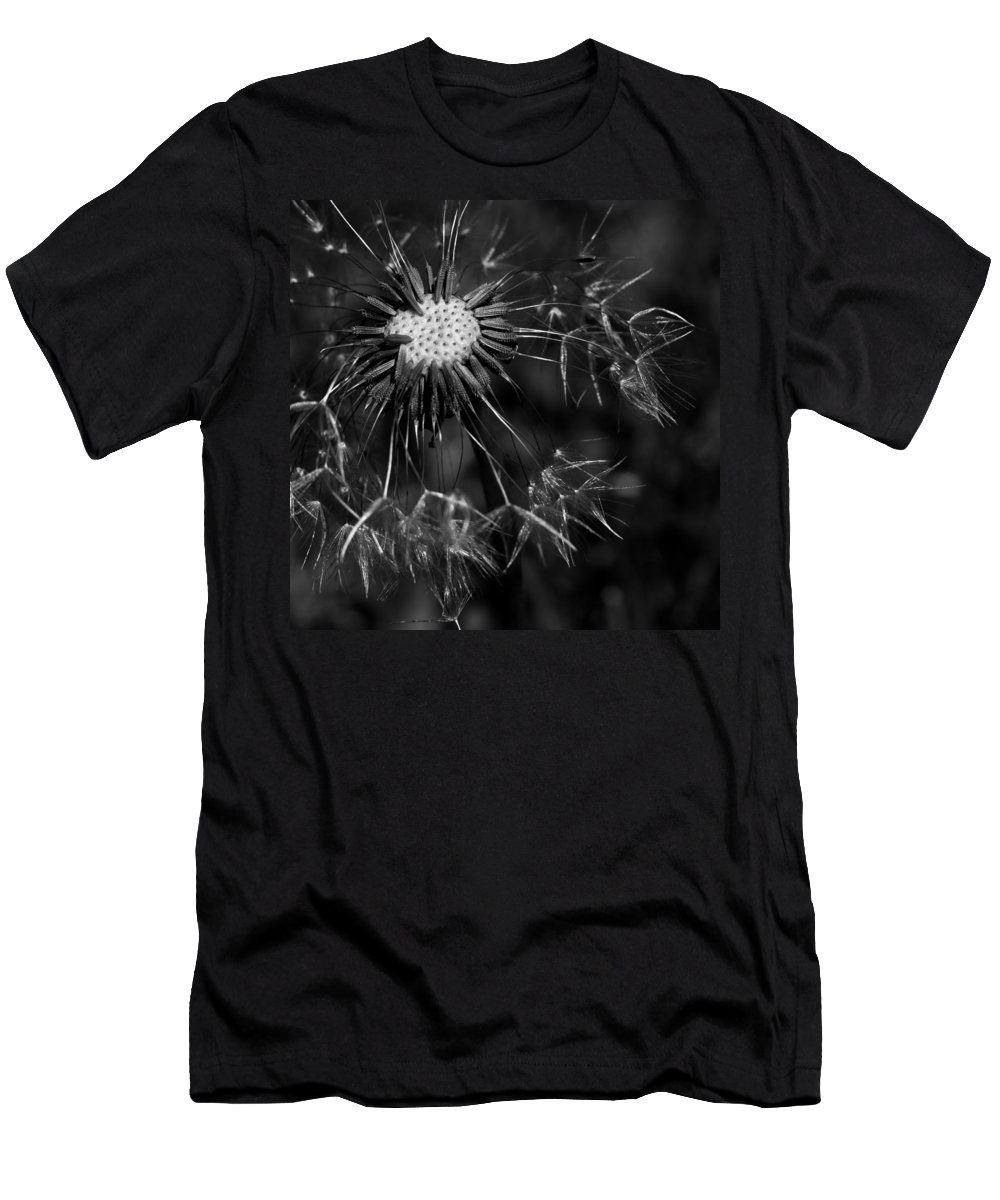 Make A Wish Men's T-Shirt (Athletic Fit) featuring the photograph Dandelion Burst by Ernie Echols