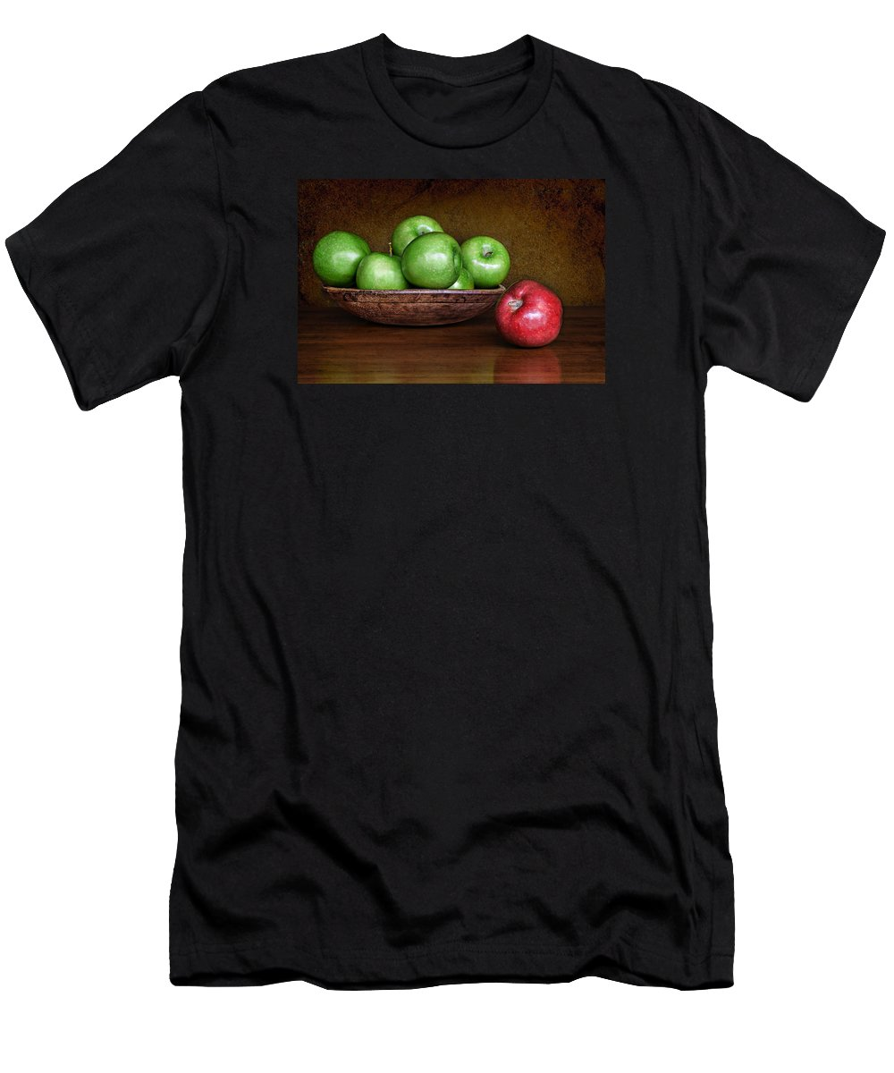Apples Men's T-Shirt (Athletic Fit) featuring the photograph Dare To Be Different 3 by Nikolyn McDonald