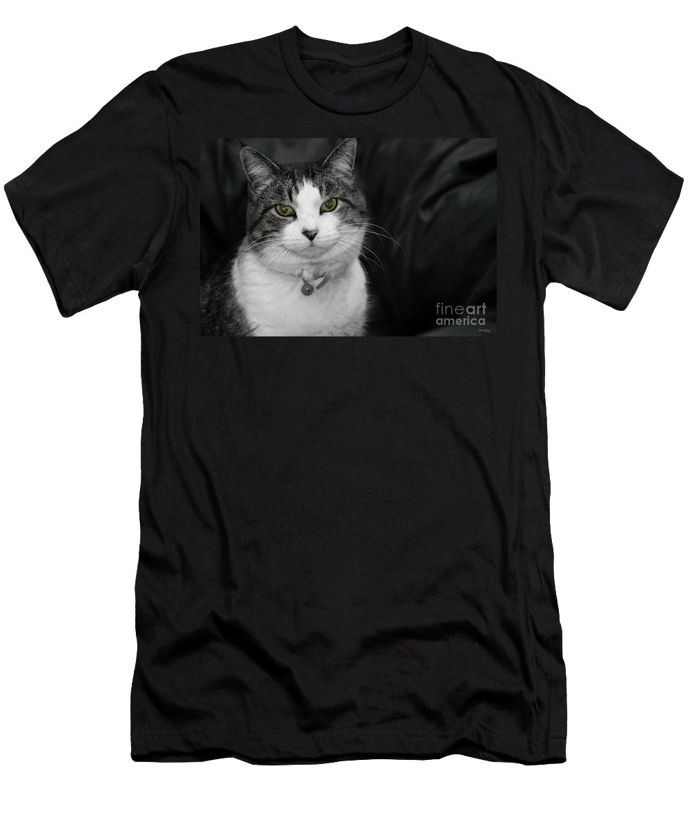 Animal Men's T-Shirt (Athletic Fit) featuring the photograph Dare To Look Into My Green Eyes by Jennifer White