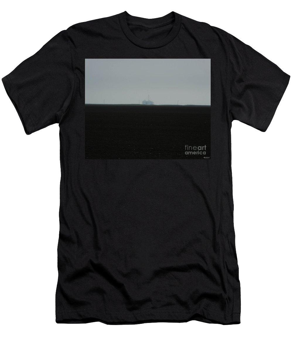 Farming Men's T-Shirt (Athletic Fit) featuring the photograph Dark Texas Earth by Lizi Beard-Ward
