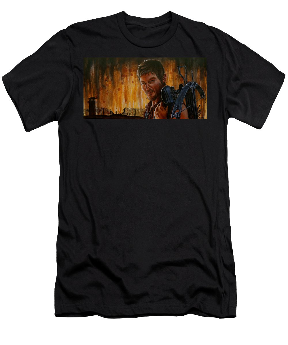 Daryl T-Shirt featuring the painting Daryl by Marlon Huynh