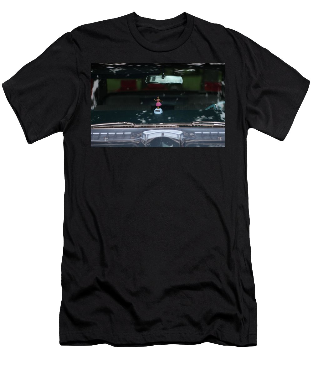 Dashboard Hula Girl Men's T-Shirt (Athletic Fit) featuring the photograph Dashboard Hula Girl by Dan Sproul