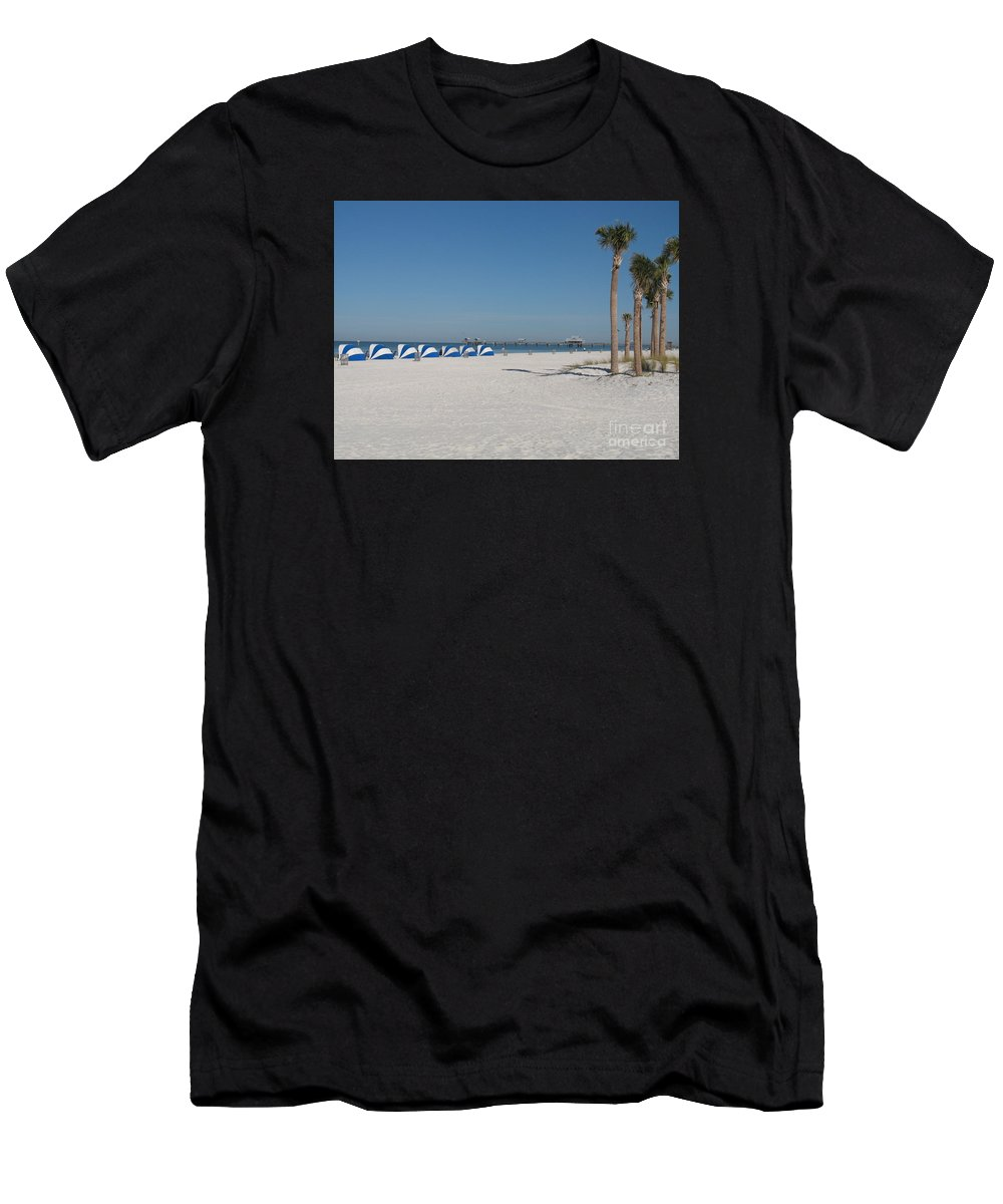 Beach Men's T-Shirt (Athletic Fit) featuring the photograph Day On The Beach by Christiane Schulze Art And Photography