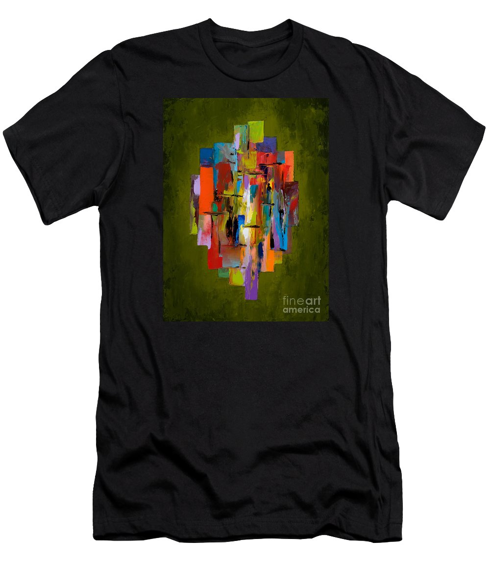 Abstract Men's T-Shirt (Athletic Fit) featuring the painting Daybreak by Larry Martin