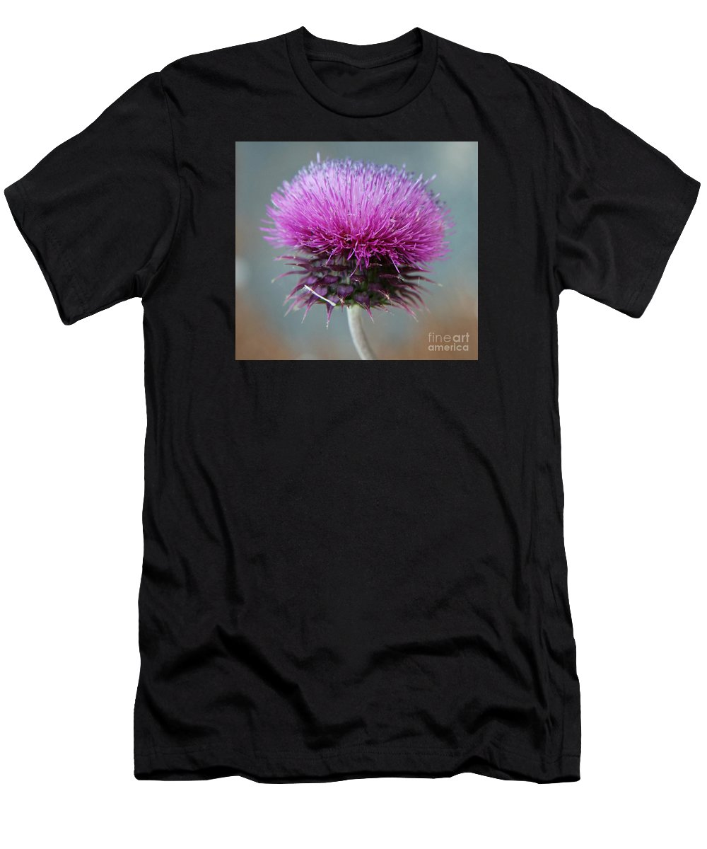 Thistle Men's T-Shirt (Athletic Fit) featuring the photograph Dazzling Thistle Beauty by Christiane Schulze Art And Photography