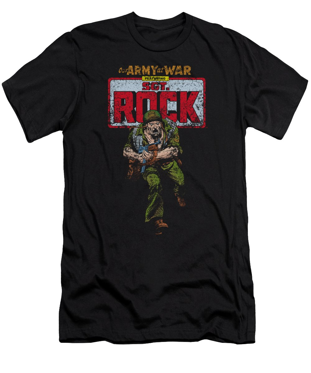 Dc Comics T-Shirt featuring the digital art Dc - Sgt Rock by Brand A