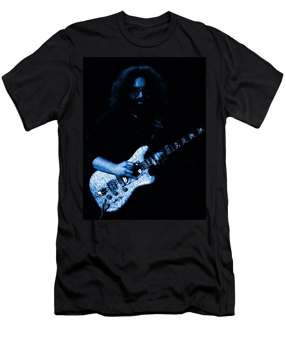Grateful Dead Men's T-Shirt (Athletic Fit) featuring the photograph Dead #32 In Blue by Ben Upham