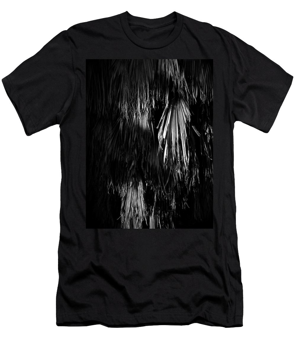 Black Men's T-Shirt (Athletic Fit) featuring the photograph Dead Fronds by Phil Penne