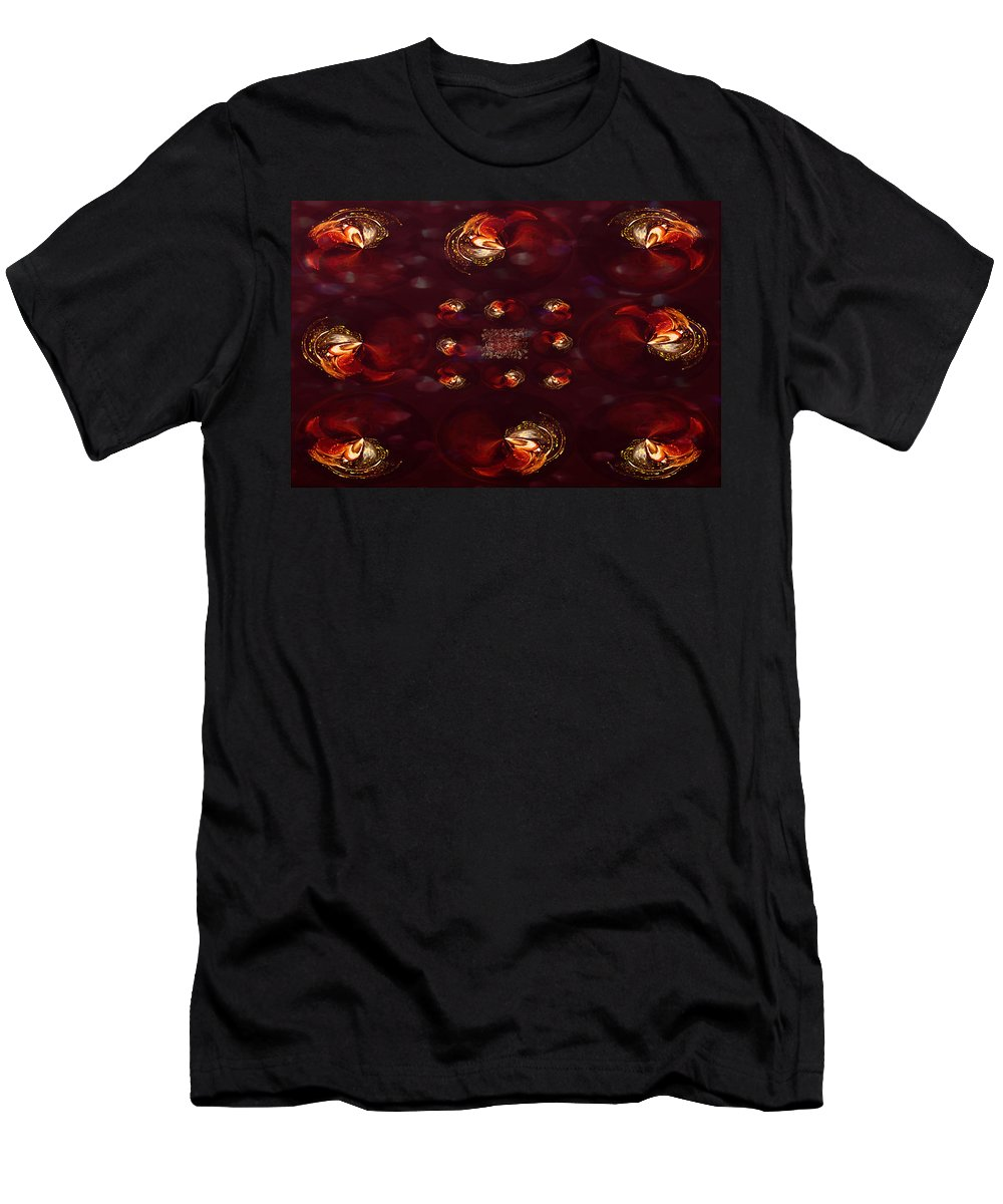 Paula Ayers Men's T-Shirt (Athletic Fit) featuring the digital art Decadence by Paula Ayers