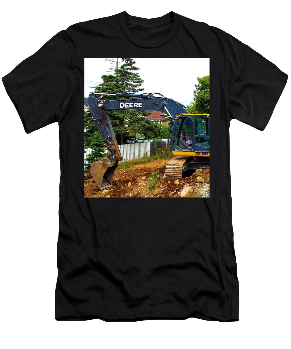 Deere For Hire Men's T-Shirt (Athletic Fit) featuring the photograph Deere For Hire by Barbara Griffin