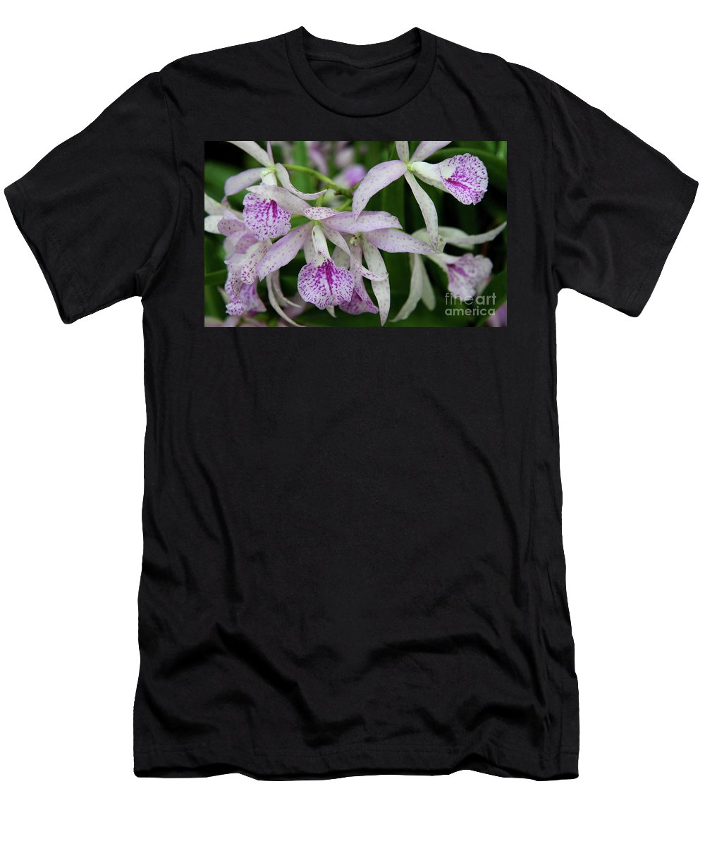 Orchid Men's T-Shirt (Athletic Fit) featuring the photograph Delicate Orchid Blossoms by Christiane Schulze Art And Photography