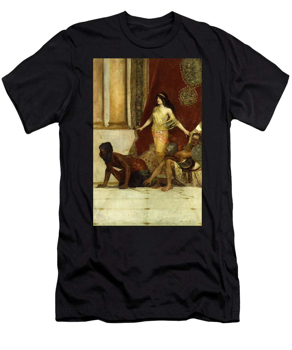 Constant Men's T-Shirt (Athletic Fit) featuring the painting Delilah And The Philistines by Jean Joseph Benjamin Constant