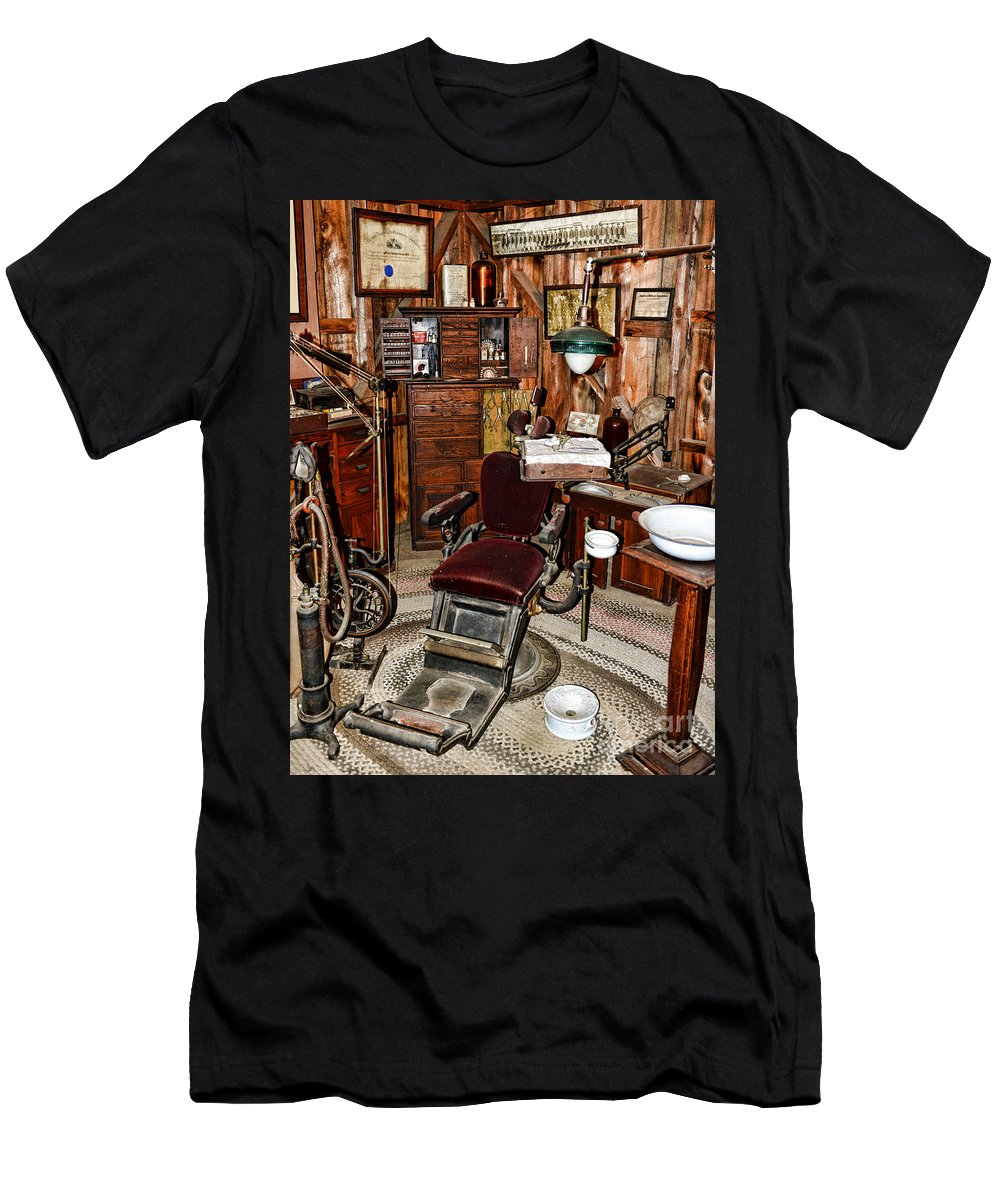 Dentist Men's T-Shirt (Athletic Fit) featuring the photograph Dentist - The Dentist Chair by Paul Ward