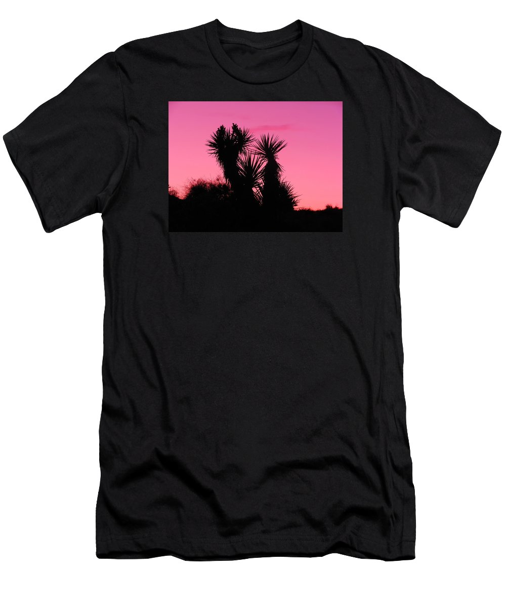 Landscape Men's T-Shirt (Athletic Fit) featuring the photograph Desert Pink by James Welch