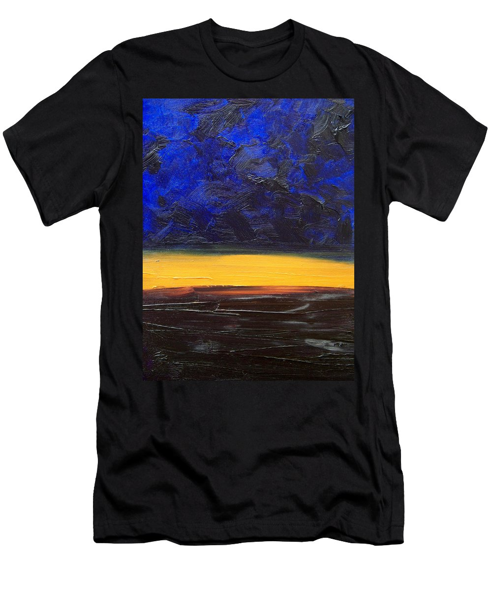 Landscape Men's T-Shirt (Athletic Fit) featuring the painting Desert Plains by Sergey Bezhinets