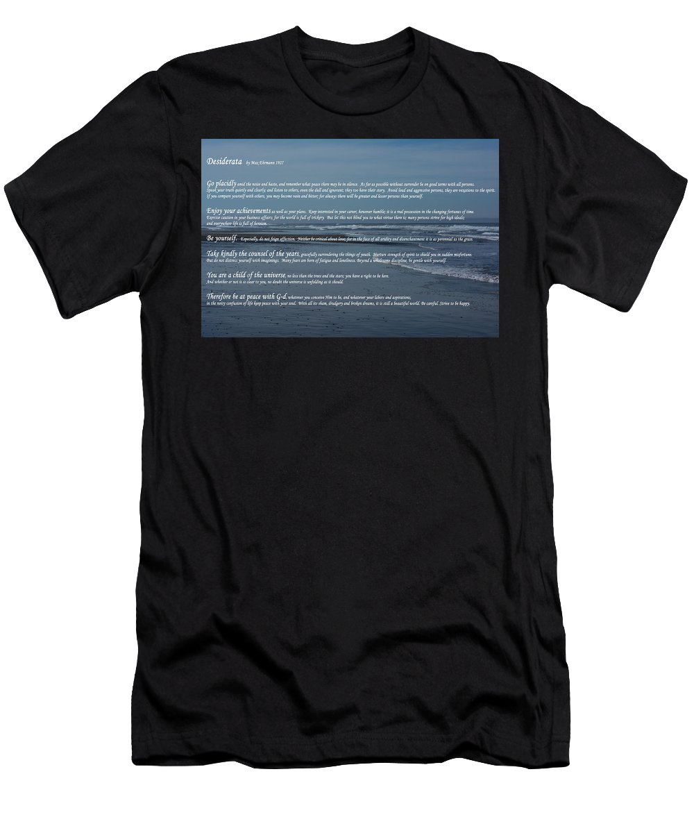 Desiderata Men's T-Shirt (Athletic Fit) featuring the photograph Desiderata by Tikvah's Hope