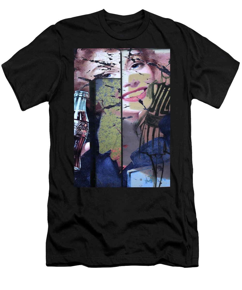 Abstract Men's T-Shirt (Athletic Fit) featuring the photograph Designer Imperfections by The Artist Project