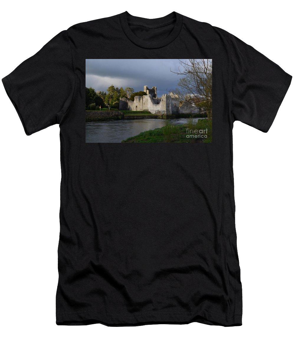 Desmond Castle Men's T-Shirt (Athletic Fit) featuring the photograph Desmond Castle by DejaVu Designs