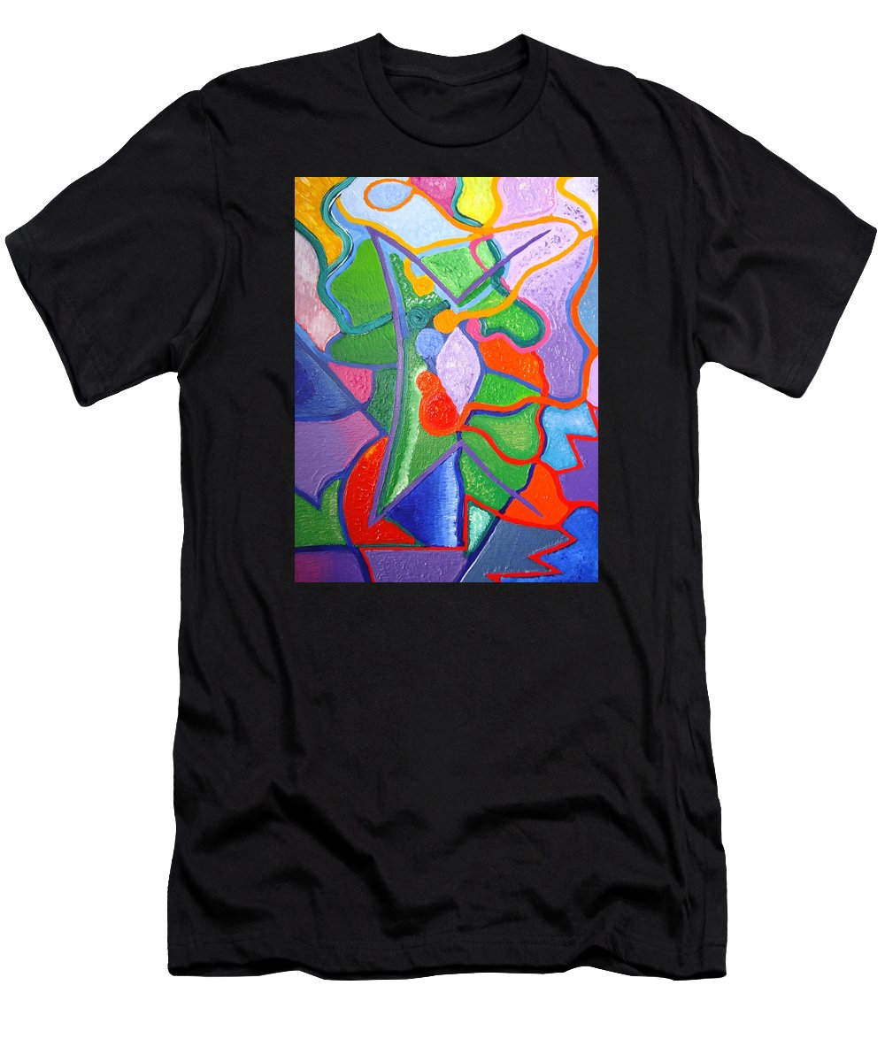 Abstract Painting Men's T-Shirt (Athletic Fit) featuring the painting Destiny by Joanna Pilatowicz