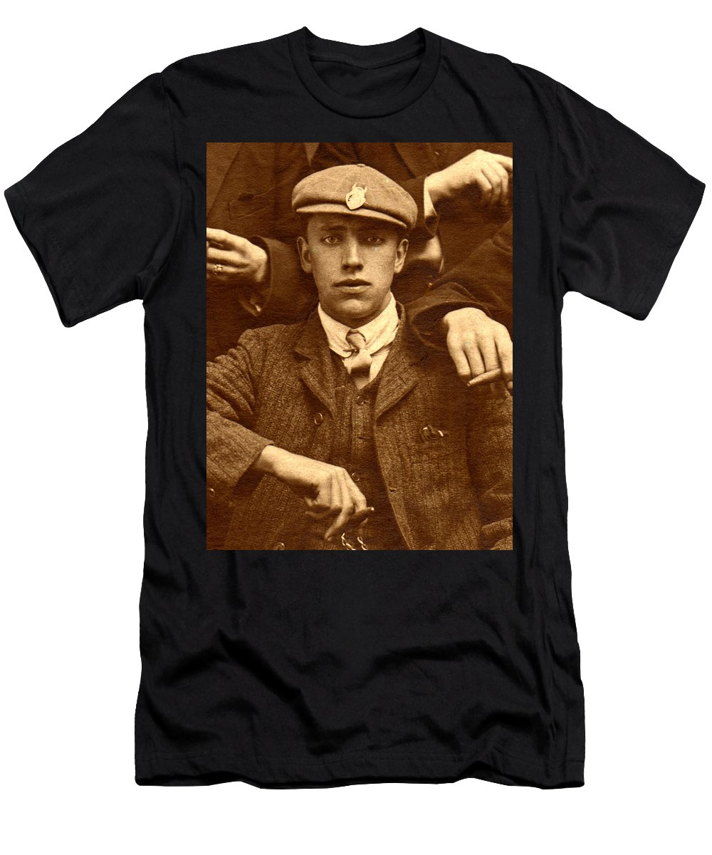 Sepia Men's T-Shirt (Athletic Fit) featuring the photograph Destiny by Rodger Insh