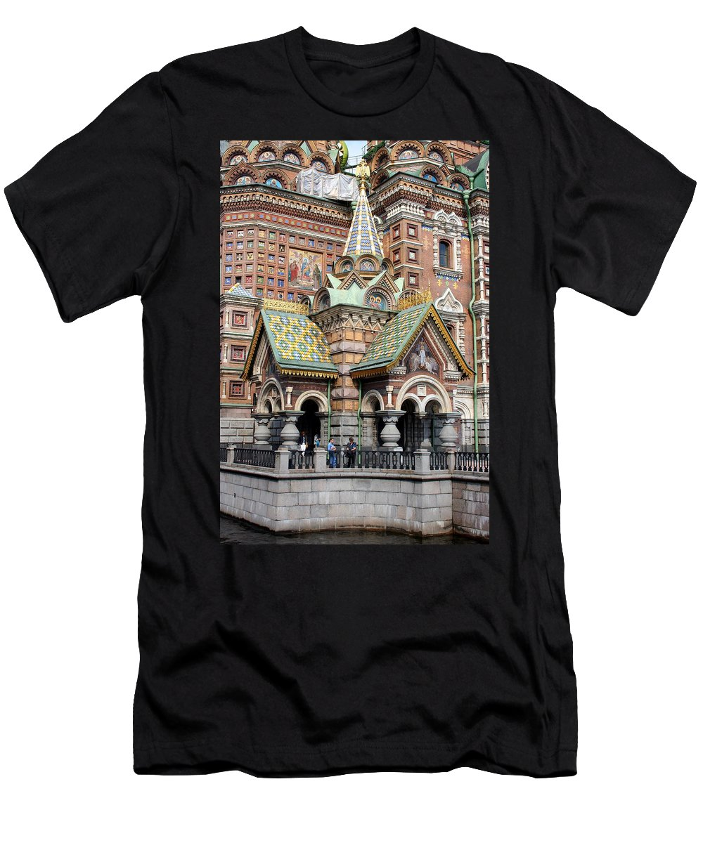 Resurrection Church Men's T-Shirt (Athletic Fit) featuring the photograph Detail Resurrection Church by Christiane Schulze Art And Photography