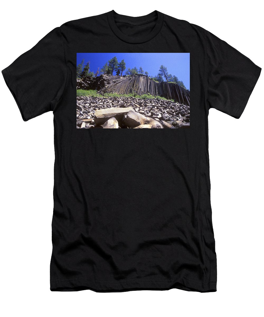 Devils Postpile Men's T-Shirt (Athletic Fit) featuring the photograph Devils Postpile by Paul W Faust - Impressions of Light