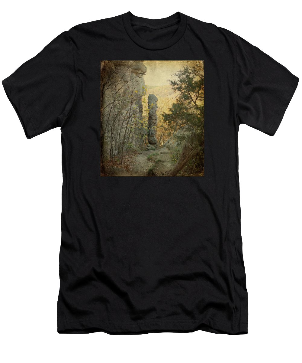 Shawnee National Forest Men's T-Shirt (Athletic Fit) featuring the photograph Devil's Smokestack by Sandy Keeton