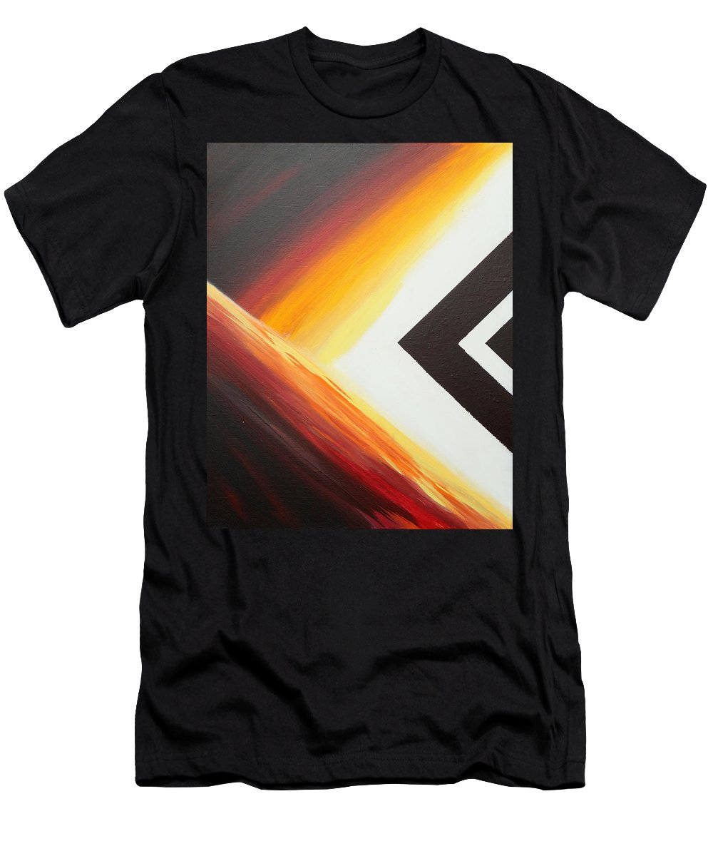 Abstract Men's T-Shirt (Athletic Fit) featuring the painting Diamond Fire 1 by Debbie Levene