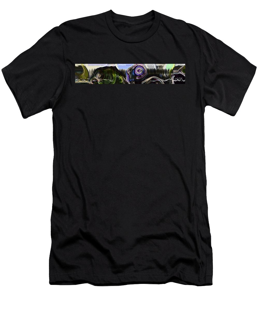 Abstract Men's T-Shirt (Athletic Fit) featuring the photograph Different Tales Different Scenes by Richard Thomas