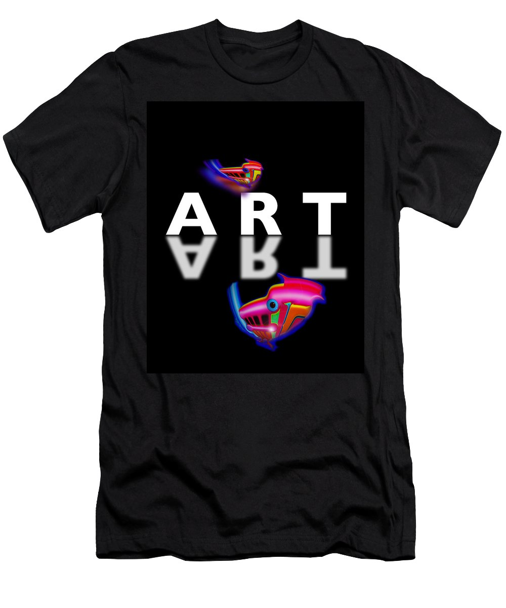 Art Men's T-Shirt (Athletic Fit) featuring the painting Digital Art by Charles Stuart