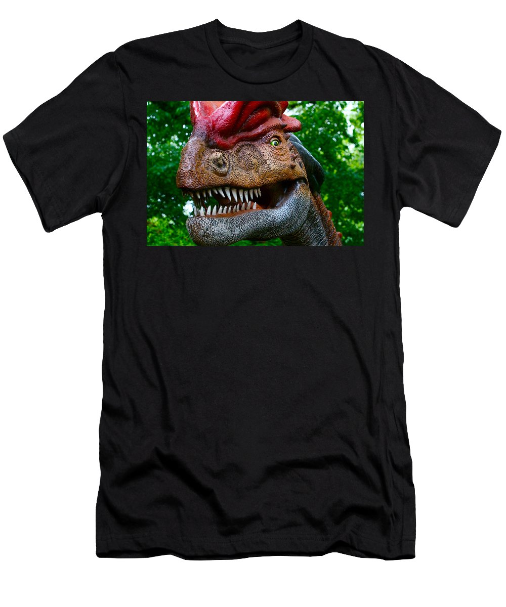 Dinosaur Men's T-Shirt (Athletic Fit) featuring the photograph Dino In The Bronx Four by Alice Gipson