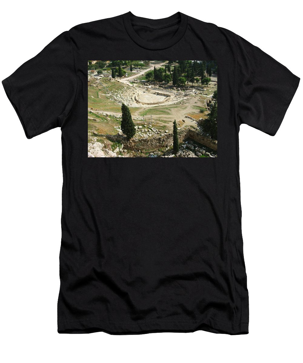 Dionysus Theater Men's T-Shirt (Athletic Fit) featuring the photograph Dionysus Amphitheater by Ellen Henneke
