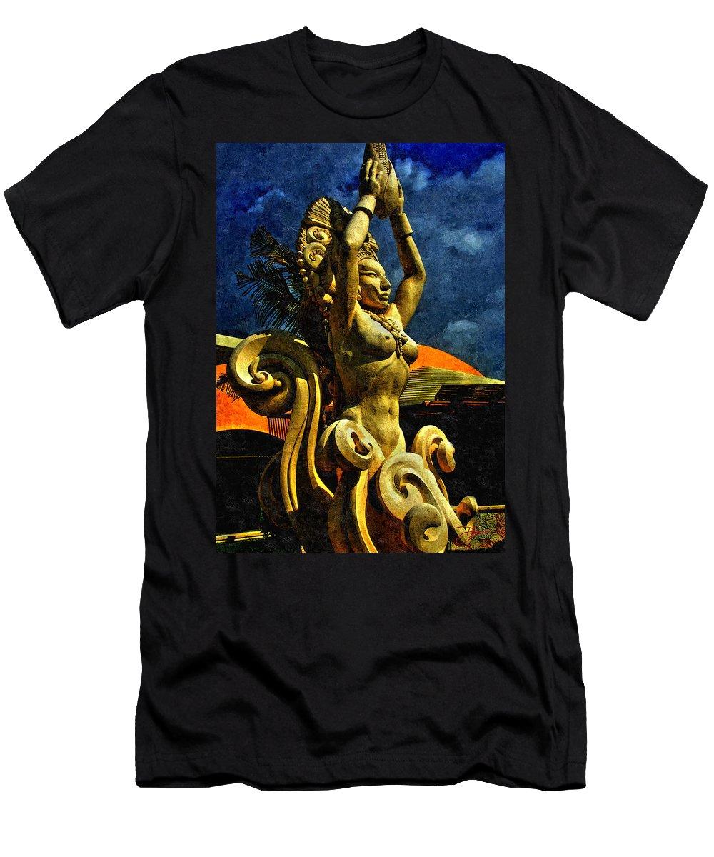Maize Men's T-Shirt (Athletic Fit) featuring the digital art Diosa De Maize by Dancin Artworks
