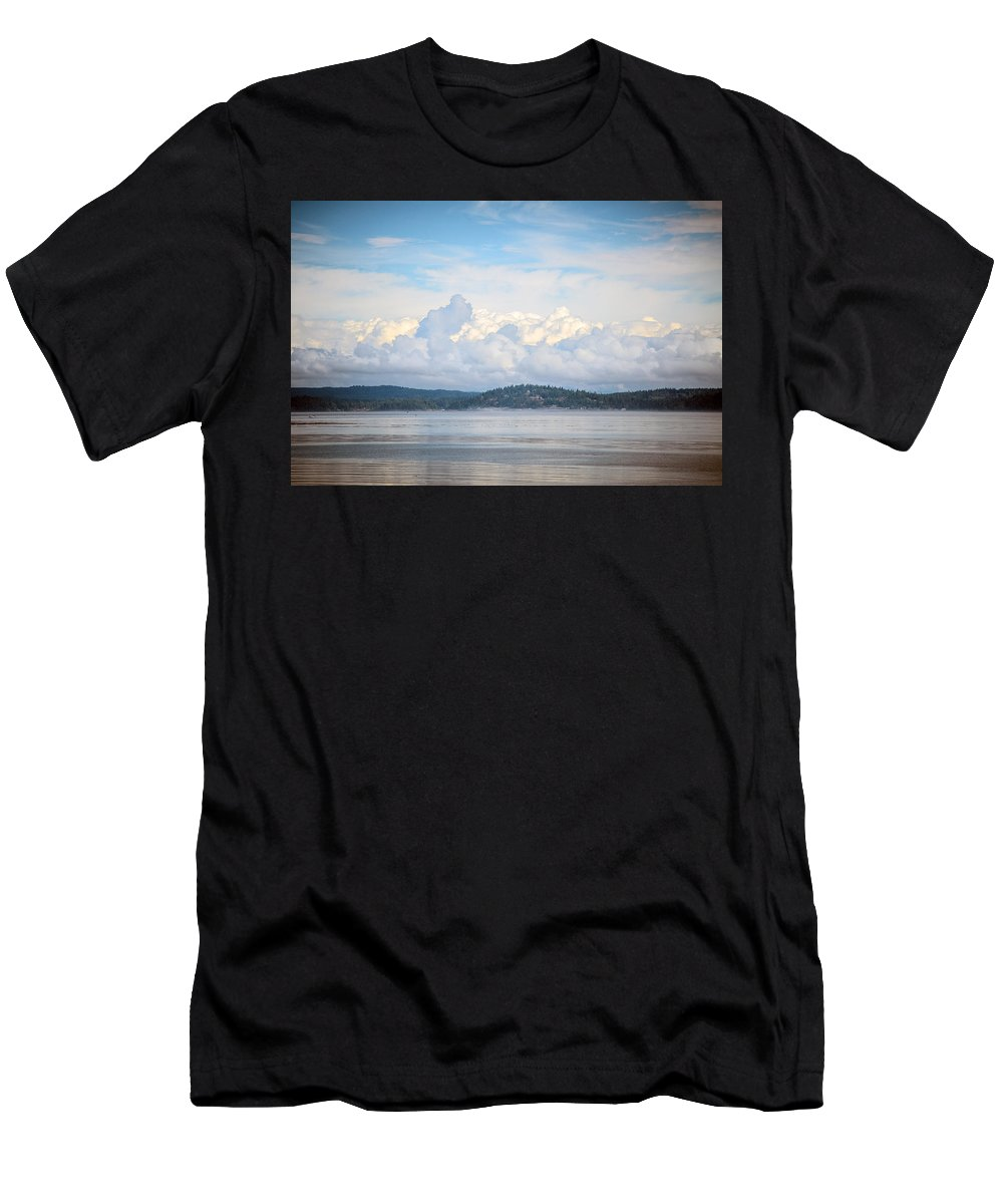 Discovery Passage Men's T-Shirt (Athletic Fit) featuring the photograph Early Morning Discovery Passage by Roxy Hurtubise