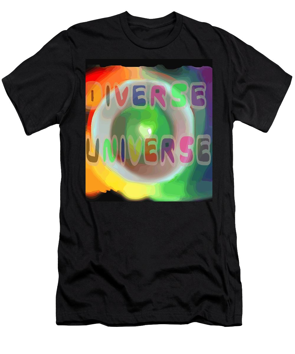 Diverse Men's T-Shirt (Athletic Fit) featuring the painting Diverse Universe by Pharris Art