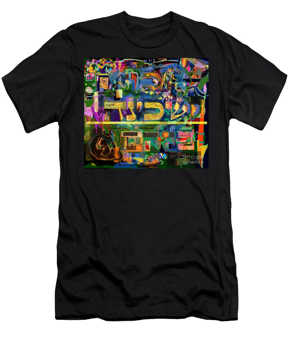 Torah Men's T-Shirt (Athletic Fit) featuring the digital art Divinely Blessed Marital Harmony 42 by David Baruch Wolk