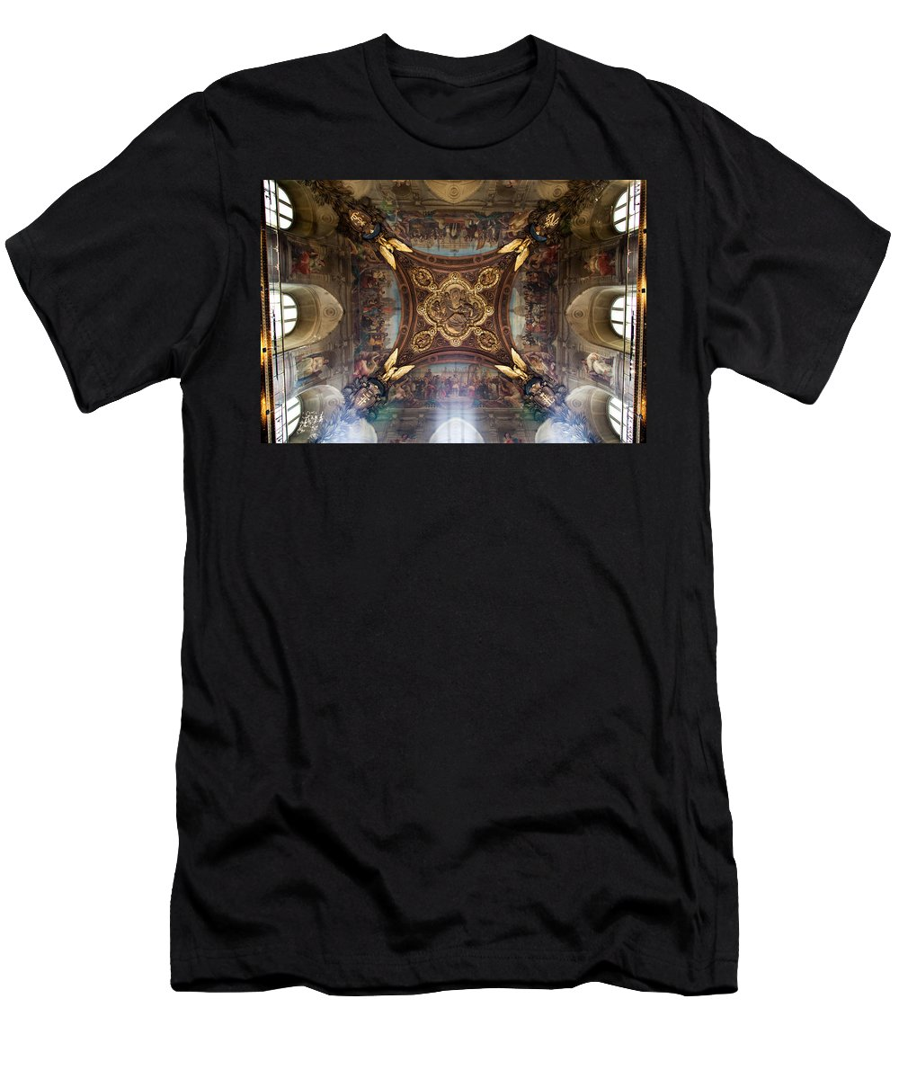 Louvre Men's T-Shirt (Athletic Fit) featuring the photograph Divinity by Aaron Aldrich