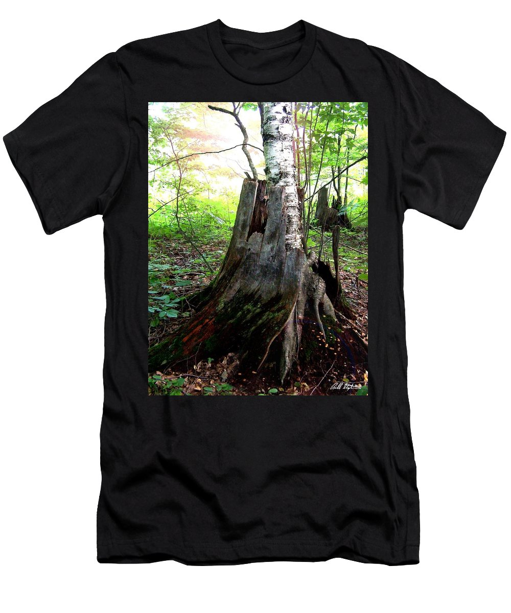 Nature Men's T-Shirt (Athletic Fit) featuring the photograph Divorce by Bill Stephens
