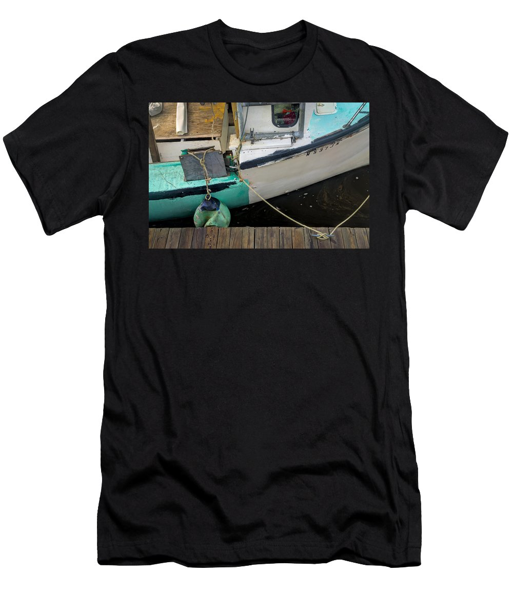 Water Men's T-Shirt (Athletic Fit) featuring the photograph Dockside Detail by David Stone